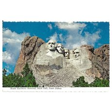 Postcard of Mount Rushmore Memorial, Black Hills, South Dakota