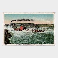 Postcard of the American Falls Power Plant, O.S.L & U.P. System