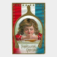 Thanksgiving Postcard of Child Praying