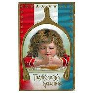 Thanksgiving Postcard of Child Praying