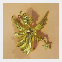 Mylu Angel with Star Christmas Holiday Pin