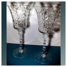 Crystal Stem Cut Toasting Glasses