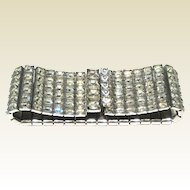 Art Deco Style Runway Bracelet Square Rhinestones