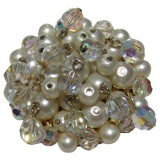 Kramer Simulated Pearl and Crystal Pin
