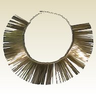 Runway Necklace Shimmering Gold-tone Rods