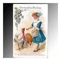 Thanksgiving Blessings Postcard
