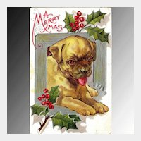 Christmas Dog Series Postcard
