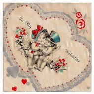 Precious Valentine with Cupid Couple in Hats