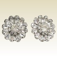 Kramer Bridal Runway Brilliant Clear Rhinestone Earrings