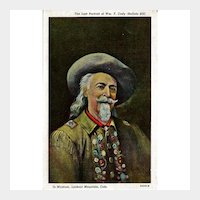 Buffalo Bill Portrait Postcard