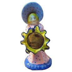 Pin Cushion Sunbonnet Lady Holding Flower