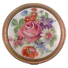 Limoges France Ladies Compact Porcelain Top