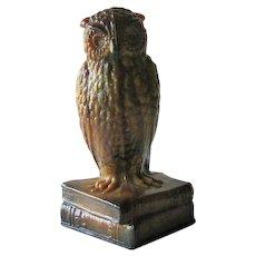 Degenhart Caramel Slag Owl Figurine
