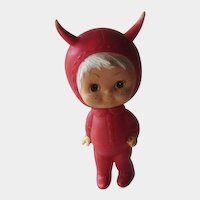 Rare Kamar Devil Rubber Doll 1970 Hard to Find
