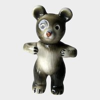 Bear Toothbrush Holder Figural Ceramic
