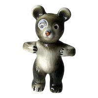 Bear Toothbrush Holder Figural Ceramic