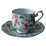 Royal Albert Summer Glory Chintz Cup Saucer England Bone China