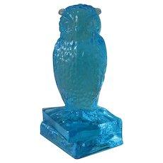 Degenhart Sapphire Owl Figurine on Books Signed