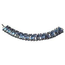 Ice Blue Rhinestone Bracelet Unique Construction