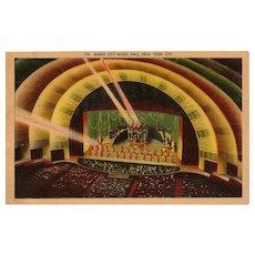 Radio City Music Hall Postcard New York City Rockettes