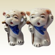 White Bears Salt and Pepper Shakers / Japan Shakers / Porcelain Shakers / Collectible Salt & Pepper Shakers