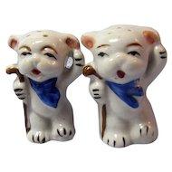 White Bears Salt and Pepper Shakers / Japan Shakers / Porcelain Shakers / Collectible Salt & Pepper Shakers