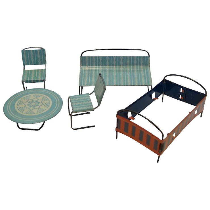 Doll House Tin Furniture / Babyu0027s Furniture Set / Doll House Table / Doll  House Bed