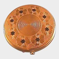 Dorset Fifth Avenue Gold-tone and Enamel Compact / Powder Compact / Fashion Compact / Vintage Compact