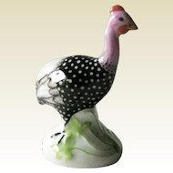 Herend Hungary Guinea Hen / Hand Painted Porcelain Herend Figurine / Fine Porcelain / Signed
