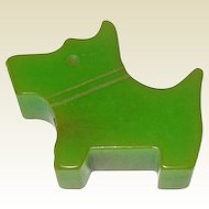Bakelite Scottie Dog Pencil Sharpener / Collectible Bakelite / Vintage Bakelite / Vintage Pencil Sharpener/ Bakelite Scottie / Green  Bakelite / Collectible Pencil Sharpener