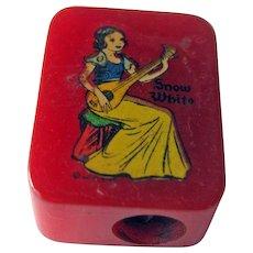 Snow White Bakelite Pencil Sharpener / Disney Pencil Sharpener / Vintage Sharpener / Collectible Sharpener