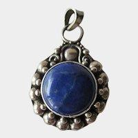 Sterling  Lapis Lazuli Pendant