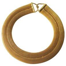 Fabulous Les Bernard Runway Mesh Necklace