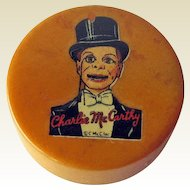 Charlie McCarthy Pencil Sharpener / Bakelite Pencil Sharpener / Vintage Sharpener / Collectible Sharpener / Charlie McCarthey