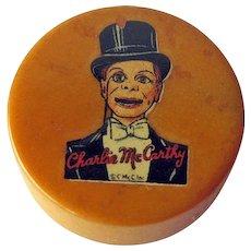 Charlie McCarthy Pencil Sharpener / Bakelite Pencil Sharpener / Vintage Sharpener / Collectible Sharpener / Charlie McCarthey