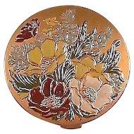 Vintage Hampden Compact Enameled Flowers / Hampden Compact / Enameled Flowers / Vintage Compact / Collectible Compact / Vanity Item