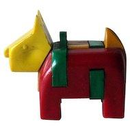 Scottie Dog Key-ring Puzzle / Vintage Puzzle / Plastic Scottie / Vintage Scottie / Collectible Keyring Puzzle