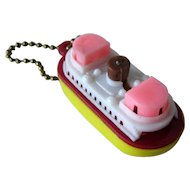 Tugboat Puzzle / Tugboat Key Chain Puzzle / Vintage Key ring / Vintage Puzzle / Collectible Puzzle / Collectible Key Chain