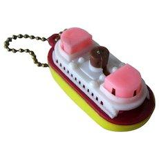 Tugboat Puzzle / Tugboat Key Chain Puzzle / Vintage Key ring / Vintage Puzzle / Collectible Puzzle / Collectible Key Chain