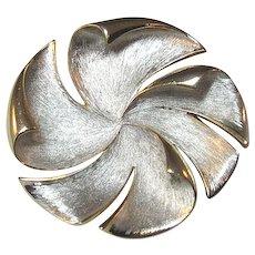 Hobe Pinwheel Pin / Designer Pin / Vintage Pin / Fashion Jewelry / Collectible Brooch