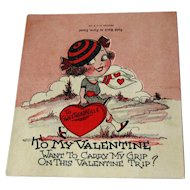 Vintage Valentine Unused / Easel / Unique Valentine / Vintage Valentine
