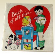 Valentine Card Hidden Message / Vintage Valentine / Collectible Valentine / Scottie Dog