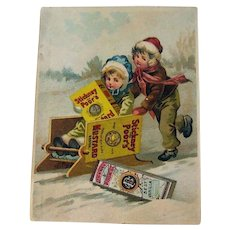 Vintage Advertising Card / Stickney & Poors Mustard Advertising Card / Vintage Trade Card / Ephemera