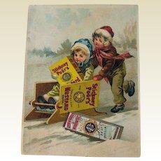 Vintage Advertising Card / Stickney & Poors Mustard Advertising Card / Vintage Trade Card / Ephemera