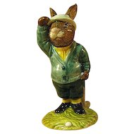 Royal Doulton Bogey Bunnykins Figure / Bunnykins Golfer / Golfing Collectible