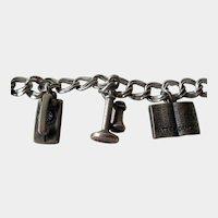 Wonderful Telephone Company Sterling Charm Bracelet