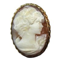 Shell Cameo Gold Filled Bezel Beautifully Detailed