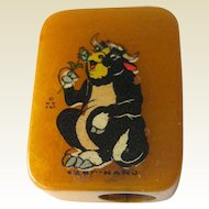 Ferdinand Bull Bakelite Pencil Sharpener / Disney Enterprises Pencil Sharpener / Vintage Sharpener / Collectible Sharpener