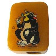 Ferdinand Bull Bakelite Pencil Sharpener / Disney Enterprises Pencil Sharpener / Vintage Sharpener / Collectible Sharpener
