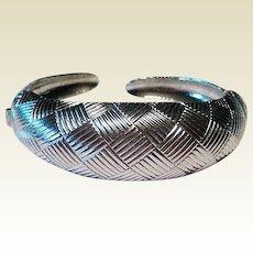 Coro Pegasus Clamper Bracelet Silver Tone / Fashion Jewelry / Vintage Bracelet
